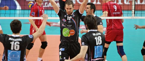 Volleyball 2011-12 CEV CL 05 Generali Haching - Poitiers. Foto: Generali Haching.